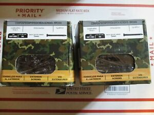 700 Of 3 X 10 Brown camo 316 Stainless Steel composite Deck Screws T 20torx