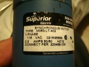 Superior Electric Slo syn Stepping Motor Belt Shaft And Pulley 115 V Ac 0 3 A