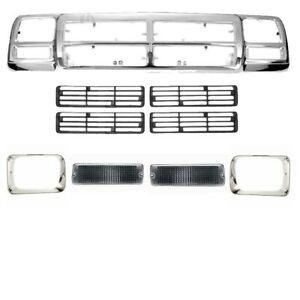Grille Headlamp Door Signal Lamp Assembly For Dodge D150 D250 1991 93 Ch1200137