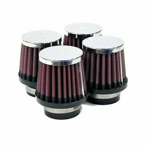 K N Air Filter Elements Conical Cotton Gauze Red 1 562 Dia Inlet Setof4 Rc 2294