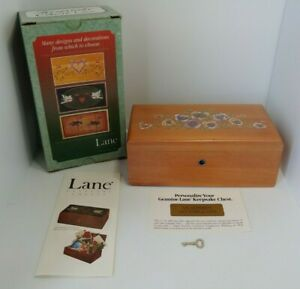 Vintage Lane Cedar Keepsake Chest With Key New In Original Box With Papers