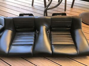 5 09 Ford Mustang Oem Balck Leather Rear Seat V8 V6 All 2005 2006 2007 2008 2009