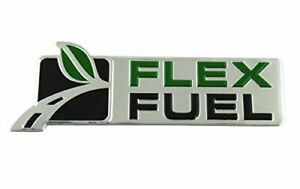 Flex Fuel Chrome 3d Emblem Badge Logo Rear Side Fender Car Door Ford Trucks New