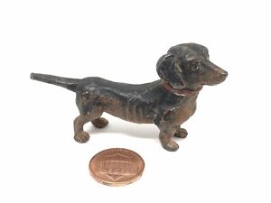 Vienna Austria Cold Painted Bronze Dachshund Vintage Antique