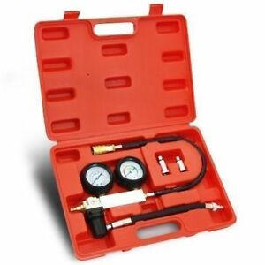 New Cylinder Leakage Leakdown Leak Detector Engine Compression Tester Gauges Set