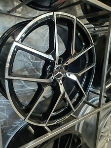 20 Staggered Black Machined Y Amg Style Rims Fits Mercedes Cl550 Sl550