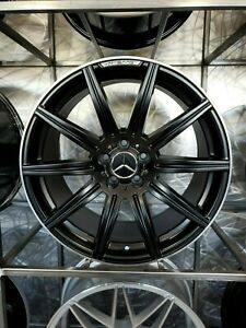 18 Stag Black Machined Lip E63 Amg Style Wheels For Mercedes Benz C300 C400