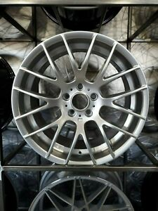 Brand New Set Of 19 Staggered Hyper Silver M3 Csl Style Wheels For Bmw 5x120