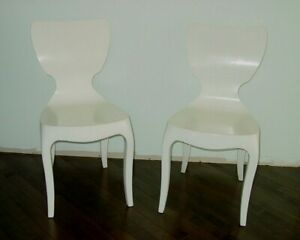 Vintage Pair Mid Century Modern Side Chairs Bent Plywood Jacobsen