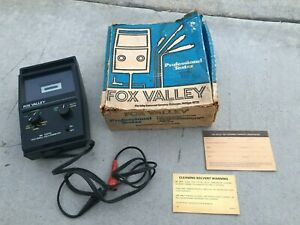 Fox Valley Tach Dwell Volt Ohmmeter 986 Beautiful Condition Vintage Orig Box