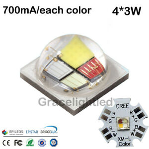 12w Rgbw Rgb Cool White Color High Power Led Emitter Instead Of Cree Xml Rgbw