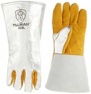 Tillman 822l Welding Gloves 1 pkg Wool Lined Leather And Aluminized Welding G