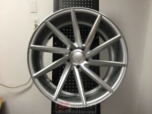 20 Swirl Style Silver Machine Style Staggered Wheels Rims 5x114 3 5x4 5