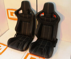 Corbeau Rrs High Base Re Trimmed In Full Real Leather Front Bucket Sport Seats