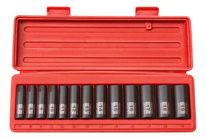 Tekton 47925 Metric 3 8 Inch Drive Deep Impact Socket Set Metric Cr V 6 Point