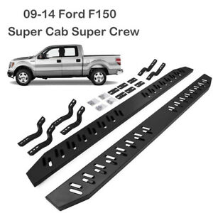 1 Pair Side Step Fit For 09 14 Ford F150 Super Cab Crew Running Boards Nerf Bar