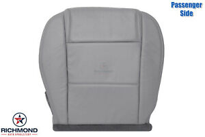 2005 2009 Ford Mustang V6 Passenger Side Bottom Leather Seat Cover Gray
