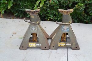Lot Of 2 Vintage Lincoln St Louis Car Truck Jacks Stands 5 Tons