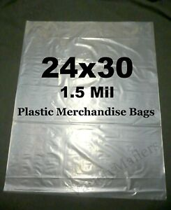 25 Extra Large 24x30 1 5 Mil Clear Flat Plastic Merchandise Storage Bags