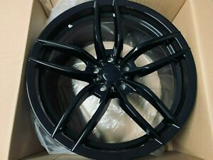 19x8 5 19x9 5 Staggered Gloss Black Vosso Style Wheels For Jdm 5x114 3