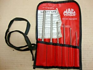 Mac Tools Srpp6kss 6 Piece Roll Pin Punch Set 3 32 5 16 Excellent