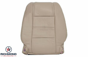 2005 2009 Ford Mustang V6 Driver Side Lean Back Genuine Leather Seat Cover Tan