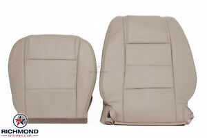 2005 2009 Ford Mustang V6 Driver Side Complete Genuine Leather Seat Covers Tan