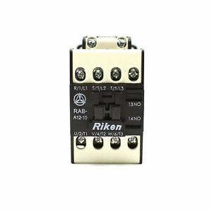 Riken Magnetic Contactor Rab a12 10 3p1a Normally Open Coil Voltage 110v