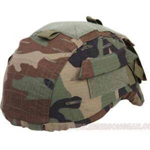 Emerson Tactical Helmet Cover ACH MICH 2001 Woodland Helmet Cover Hunting Airsof