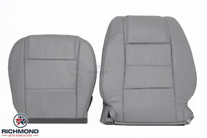 2008 Ford Mustang V6 Driver Side Bottom Lean Back Leather Seat Covers Gray