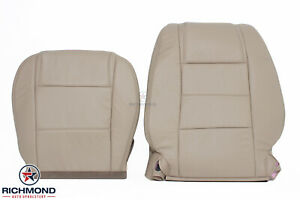 2008 Ford Mustang V6 Driver Side Bottom Lean Back Leather Seat Covers Tan