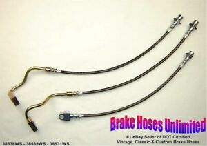 Stainless Brake Hose Set International Scout Ii With 4 Lift 1977 1978 1979
