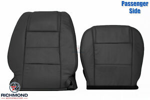 2005 2009 Ford Mustang V6 Passenger Side Complete Leather Seat Covers Black