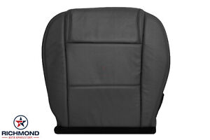 2005 2009 Ford Mustang Coupe V6 Driver Side Bottom Leather Seat Cover Black