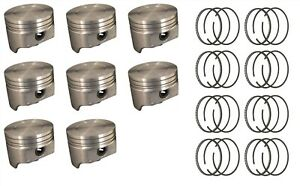 Ford Car Truck 302 5 0 Ho Sealed Power Pistons 8 And Hastings Rings 77 95