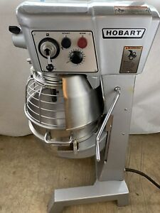Hobart 30 Qt D300t Mixer W Bowl Guard 3 Phase 3 4hp Ss Bowl And Attachments
