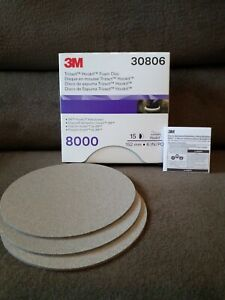 3m 30806 Trizact 6in Foam Discs P8000 Grit 3 Sheets