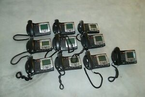 Lot 10 Nortel Ip Phone 2004 Poe Desktop W speakers Headset 8x24 Lcd Lan Ntdu92