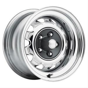 Us Wheel 668 Rallye Wheel 15x7 5x4 1 2 Steel 2pc Chrm Ea Wheel 668 5712