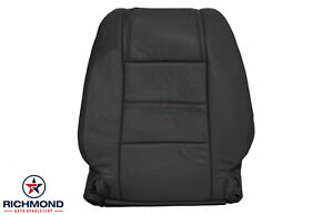 2006 2007 Ford Mustang V6 Driver Side Lean Back Genuine Leather Seat Cover Black