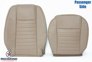 2005 2009 Ford Mustang V8 Gt Passenger Side Complete Leather Seat Covers Tan