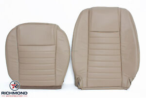 2006 2007 Ford Mustang V8 driver Side Bottom Lean Back Leather Seat Covers Tan