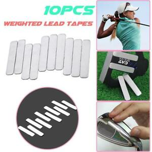 10PCS Lead Tape to Add Swing Weight for Golf Club Tennis Racket Iron Putter