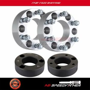 6x 2 6x135 Wheel Spacers 2 5 Front Leveling Lift Kit For Ford F 150 2004 14