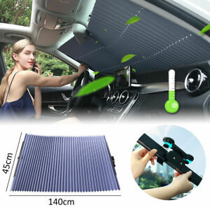 Car Sun Shade Front Window Retractable Windshield Visor Folding Auto Block Cover