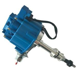Engine Igniton Distributor W Blue Cap 65k For Ford V8 Small Block 302 289 Hei