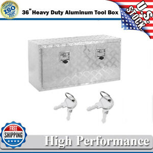 36 In Heavy Duty Aluminum Tool Box For Trailer Home Storage Underbody W Lock Us