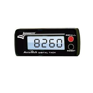Longacre Accutech Tachometer 0 10 000 3 1 2 In Wide X 1 1 2 In Tall 44391