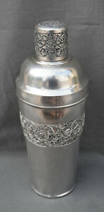 Antique Chinese Big Solid Silver Cocktail Shaker Circa 1900