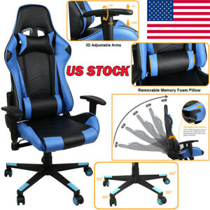 Racing Car Style Office Gaming Chair High Back Pu Ergonomic 180 Lyiny Recliner